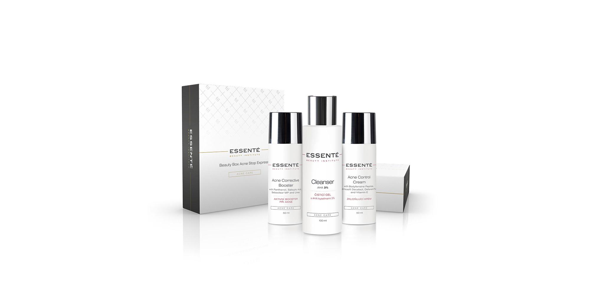 Essenté Beauty Box pro intenzivní péči při akné (Beauty Box Acne Stop Express)
